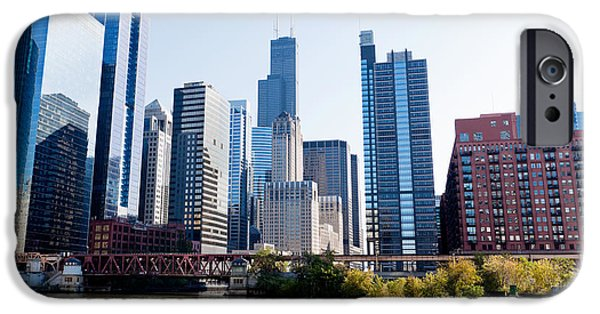 Recently Sold -  - River iPhone Cases - Chicago River Skyline with Sears-Willis Tower iPhone Case by Paul Velgos
