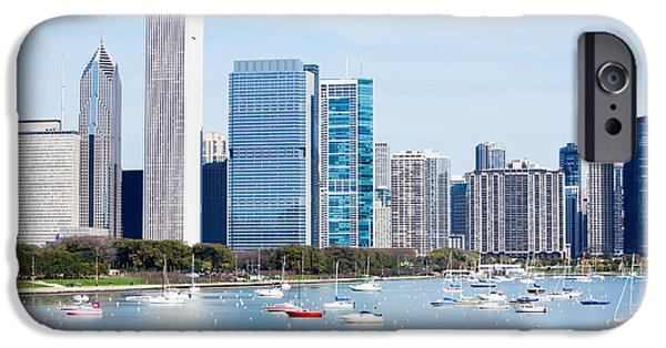 Chicago iPhone Cases - Chicago Skyline Lakefront iPhone Case by Paul Velgos