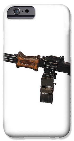 Chinese Type 56 Light Machine Gun iPhone Case by Andrew Chittock