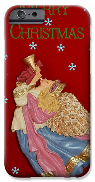 Christmas Angel iPhone Case by Aimee L Maher Photography and Art