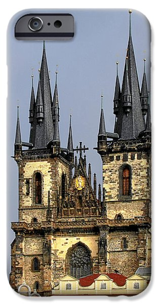 Church of Our Lady Before Tyn - Prague CZ iPhone Case by Christine Till