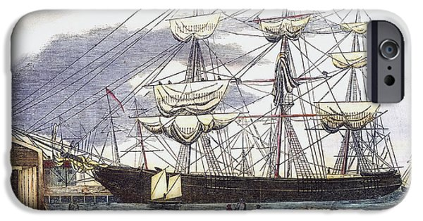1850s iPhone Cases - Clipper Ship, 1851 iPhone Case by Granger