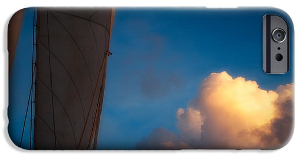 Windjammer iPhone Cases - Clouds and Sails iPhone Case by Doug Sturgess