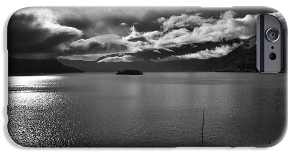 Bad Weather iPhone Cases - clouds over the Lake Maggiore iPhone Case by Joana Kruse