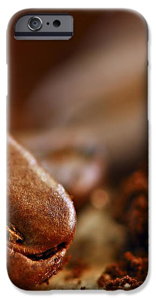 Coffee beans and ground coffee iPhone Case by Elena Elisseeva