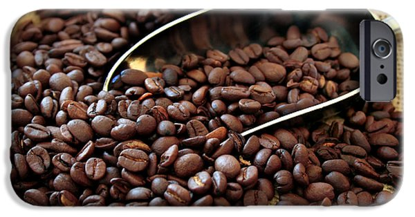 Stainless Steel iPhone Cases - Coffee Beans iPhone Case by Darren Fisher