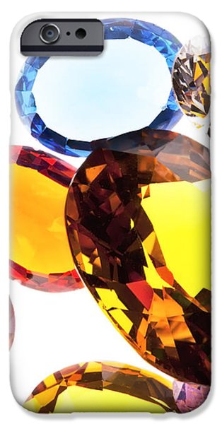 colorful gems iPhone Case by Setsiri Silapasuwanchai