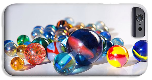 Orb iPhone Cases - Colorful Marbles iPhone Case by Carlos Caetano
