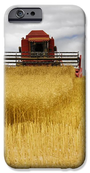 Combine Harvester iPhone Cases - Combine Harvester, North Yorkshire iPhone Case by John Short