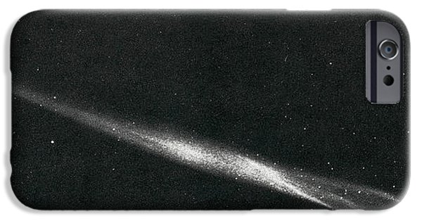 Luminous Body iPhone Cases - Comet Ikeya Seki, 1965 iPhone Case by Science Source