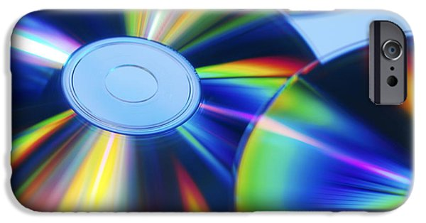 Disc iPhone Cases - Compact Discs iPhone Case by Tek Image