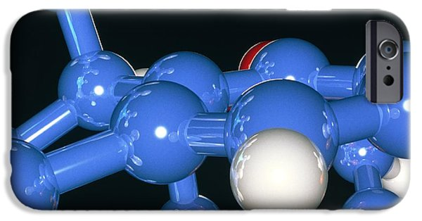 Molecular Graphic iPhone Cases - Computer Artwork Of Part Of A Molecule iPhone Case by Laguna Design