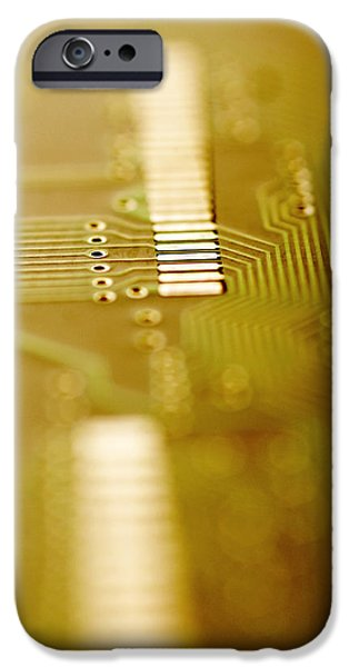 Components iPhone Cases - Computer Circuit Board iPhone Case by Tim Vernonlth Nhs Trust