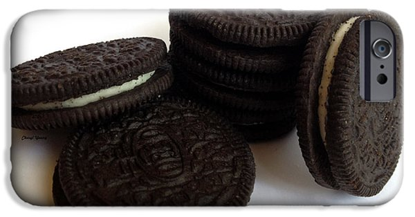 Oreos iPhone Cases - Cookies iPhone Case by Cheryl Young