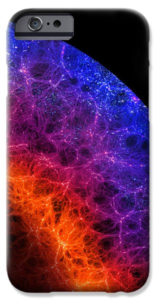 Cosmos Paintings iPhone Cases - Cosmic Dark Ages iPhone Case by Don Dixon