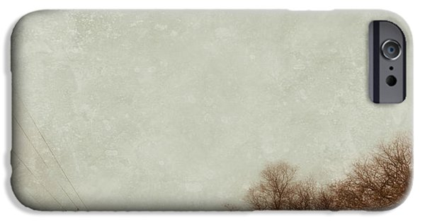 Wintertime iPhone Cases - Country Road in Snow iPhone Case by Jill Battaglia