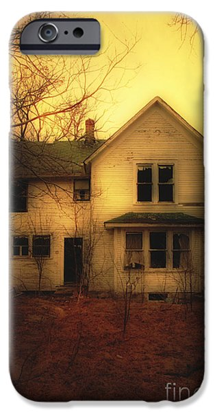 Haunted Houses iPhone Cases - Creepy Abandoned House iPhone Case by Jill Battaglia