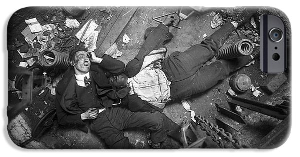 Law Enforcement iPhone Cases - Crime Scene Nyc Early 20th Century iPhone Case by Science Source