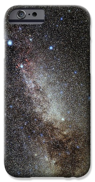 Cygnus And Lyra Constellations iPhone Case by Eckhard Slawik