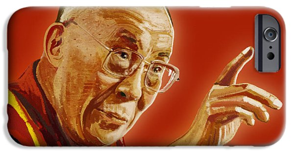 Tibetan Buddhism iPhone Cases - Dalai Lama iPhone Case by Setsiri Silapasuwanchai