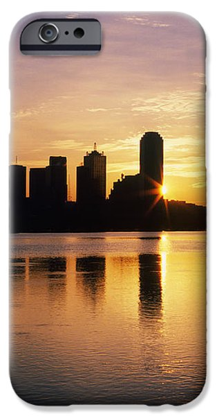 Dallas Skyline at Dawn iPhone Case by Jeremy Woodhouse
