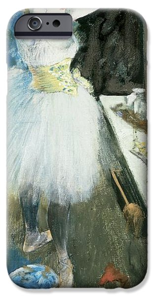 1879 iPhone Cases - Dancer in her dressing room iPhone Case by Edgar Degas