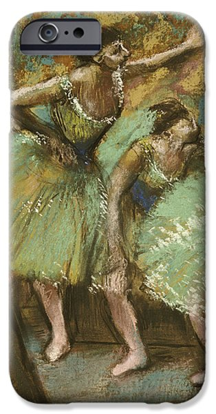 Dance iPhone Cases - Dancers iPhone Case by Edgar Degas