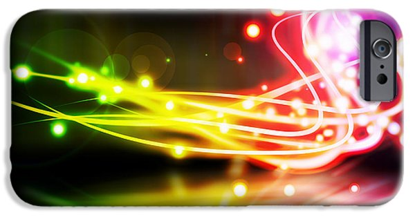 Technology iPhone Cases - Dancing Lights iPhone Case by Setsiri Silapasuwanchai