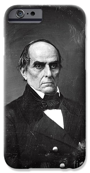 American Politician iPhone Cases - Daniel Webster iPhone Case by Photo Researchers