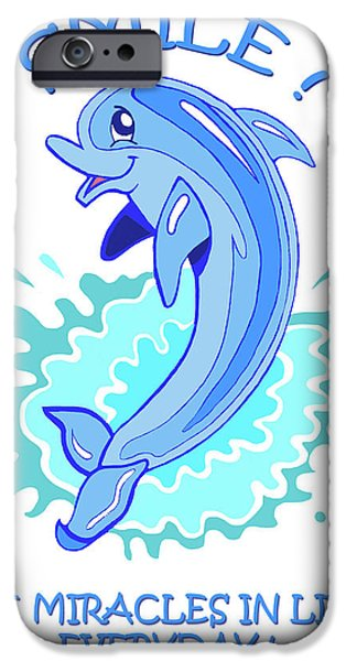 Darla The Dolphin iPhone Case by John Keaton