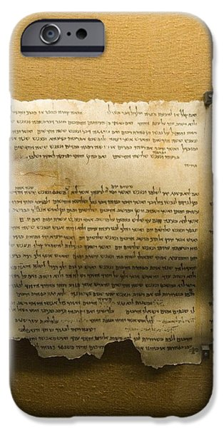Ancient Scroll iPhone Cases - Dead Sea Scroll iPhone Case by Photostock-israel