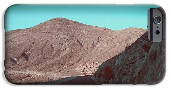 Field. Cloud iPhone Cases - Death Valley Road 2 iPhone Case by Naxart Studio