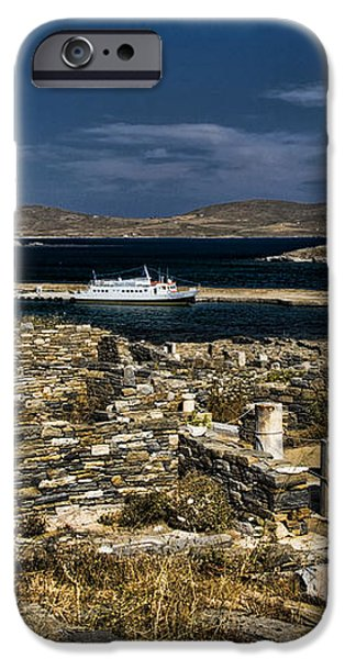 Delos Island iPhone Case by David Smith