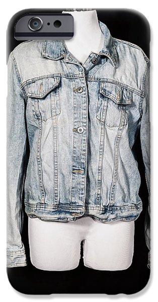 denim jacket iPhone Case by Joana Kruse