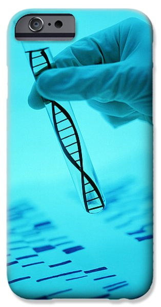 Sanger iPhone Cases - Dna Research iPhone Case by Lawrence Lawry