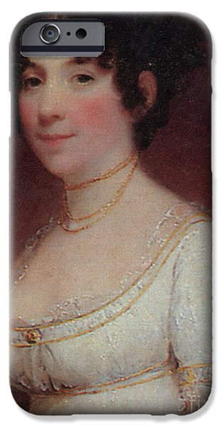 First Lady iPhone Cases - Dolley Madison iPhone Case by Photo Researchers