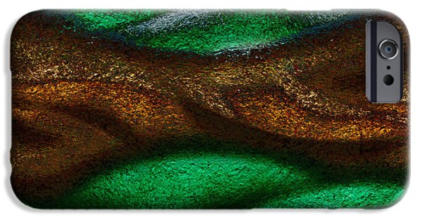 Breathing Paintings iPhone Cases - Dragons Tale iPhone Case by Christopher Gaston