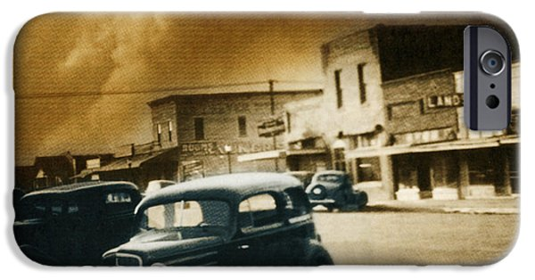 Color Enhanced iPhone Cases - Dust Bowl Of The 1930s Elkhart Kansas iPhone Case by Science Source