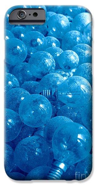 Dusty light bulbs iPhone Case by Gaspar Avila