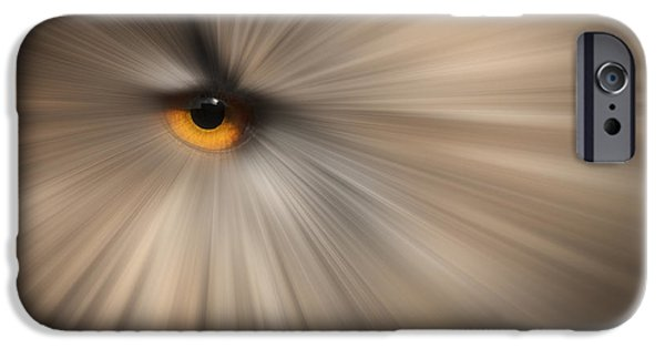 Canvassing iPhone Cases - Eagle Owl Eye Abstract iPhone Case by Andy Astbury
