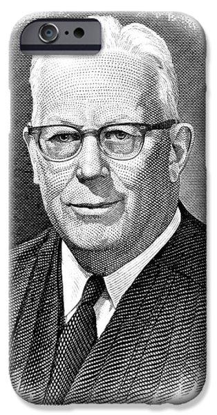 EARL WARREN (1891-1974) iPhone Case by Granger