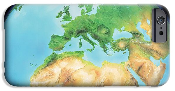 Northern Africa iPhone Cases - Earth, Artwork iPhone Case by Gary Hincks