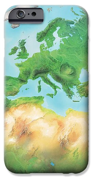 Earth, Artwork iPhone Case by Gary Hincks