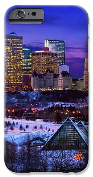 Edmonton Winter Skyline iPhone Case by Corey Hochachka