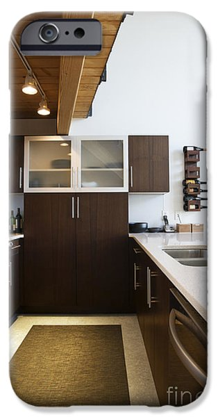 Efficiency Apartment Kitchen iPhone Case by Ben Sandall