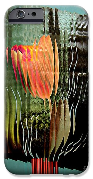 Sarah Loft iPhone Cases - Electric Tulip 2 iPhone Case by Sarah Loft