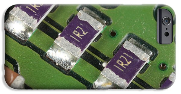 Component iPhone Cases - Electronics Board With Lead Solder iPhone Case by Ted Kinsman