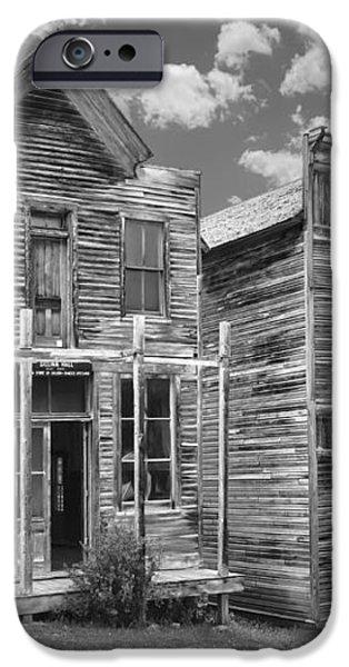 ELKHORN GHOST TOWN PUBLIC HALLS - MONTANA iPhone Case by Daniel Hagerman
