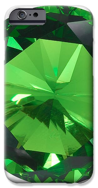emerald isolated iPhone Case by ATIKETTA SANGASAENG