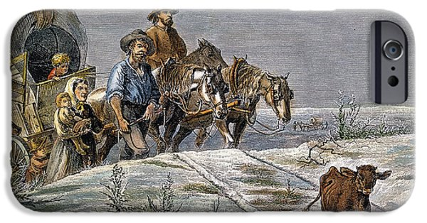 1874 iPhone Cases - Emigrants, 1874 iPhone Case by Granger